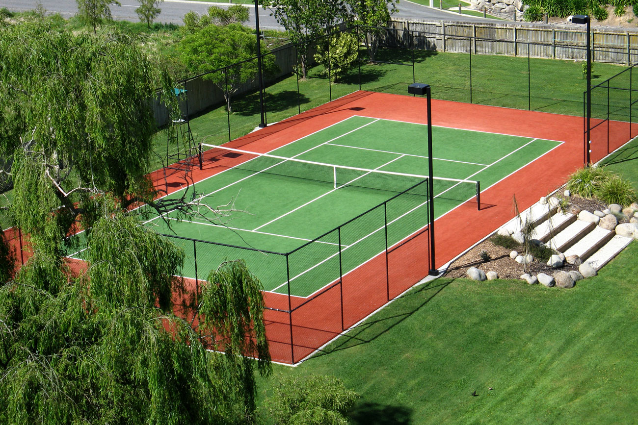 Sports surfaces bay turf for Residential sport court cost